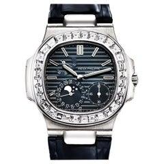Patek Philippe Nautilus White Gold Diamonds Automatic Watch