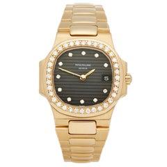Patek Philippe Nautlius Diamond 18 Karat Yellow Gold 4700