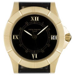 Patek Philippe Neptune Gold Black Dial 5081J-001 Automatic Wristwatch