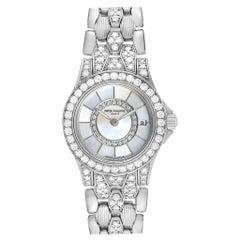 Patek Philippe Neptune White Gold Diamond Ladies Watch 4881