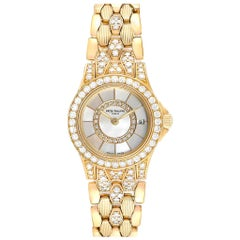 Patek Philippe Neptune Yellow Gold Diamond Ladies Watch 4881-120