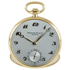 Patek Philippe Open Face Pocket Watch Vintage Yellow Gold 722