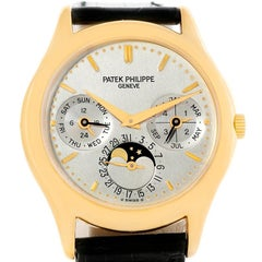 Patek Philippe Perpetual Calendar 18 Karat Yellow Gold Watch 3940 Papers