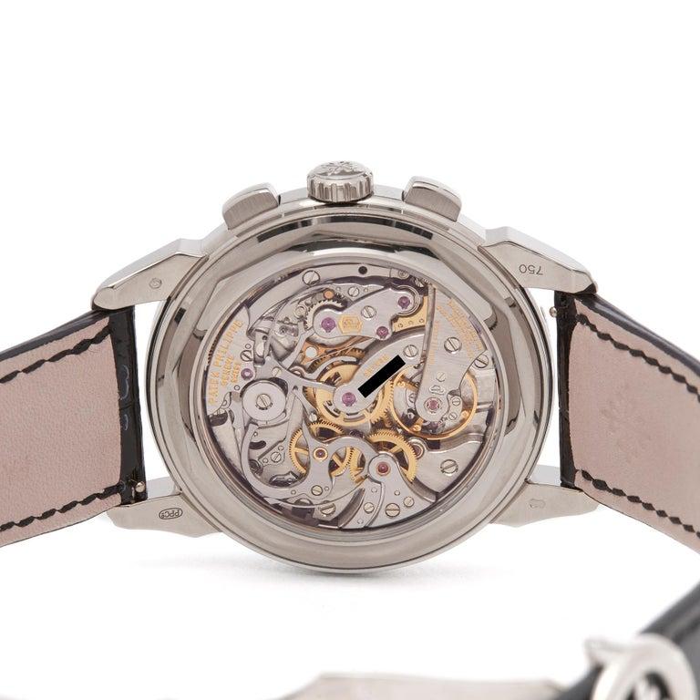 Patek Philippe Perpetual Calendar Chronograph 18K White Gold 5270G-001 Watch For Sale 2