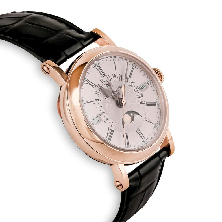 Patek Philippe Perpetual Calendar Moon Phase Rose Gold '5159R-001' In Good Condition For Sale In Dallas, TX