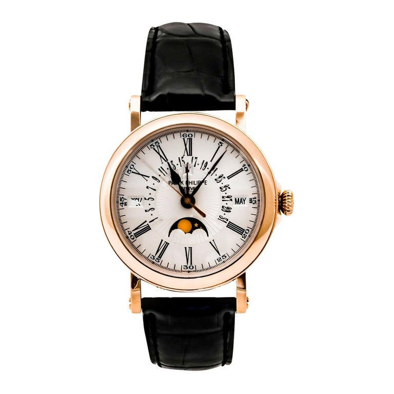Patek Philippe Perpetual Calendar Moon Phase Rose Gold '5159R-001' For Sale