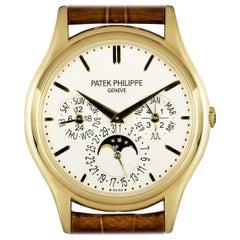 Patek Philippe Perpetual Calendar Yellow Gold Silver Dial 5140J Automatic Watch