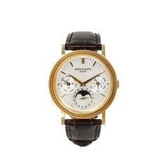 Patek Philippe Perpetual Calendar Yellow Gold Watch. Ref 5039j
