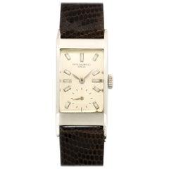 Patek Philippe Platinum Diamond Rectangular Wristwatch Ref 425