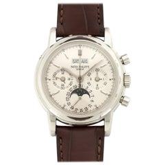 Patek Philippe Platinum Perpetual Calendar Chronograph Wristwatch Ref 3970