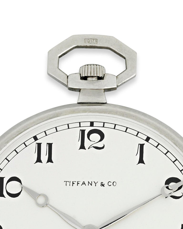 Aesthetic Movement Patek Philippe Platinum Pocket Watch for Tiffany & Co For Sale