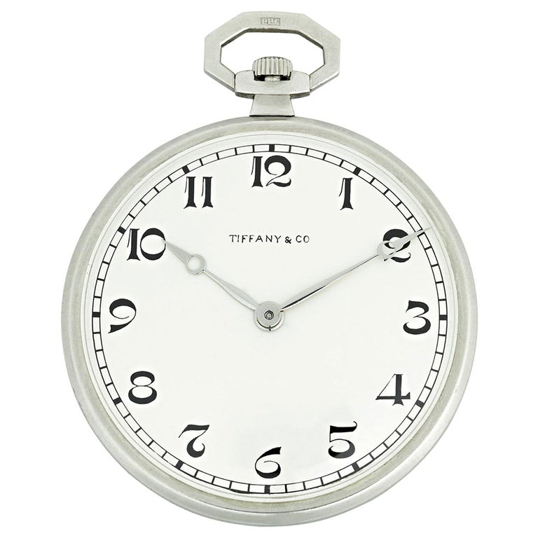 Patek Philippe Platinum Pocket Watch for Tiffany & Co For Sale
