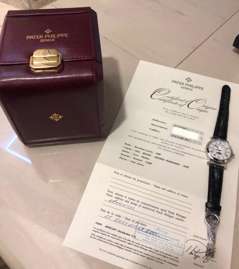 2006 Patek Philippe, Platinum, Reference 5059, Automatic Perpetual Calendar For Sale 1