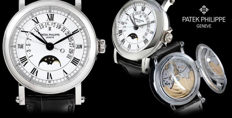 2006 Patek Philippe, Platinum, Reference 5059, Automatic Perpetual Calendar For Sale 4