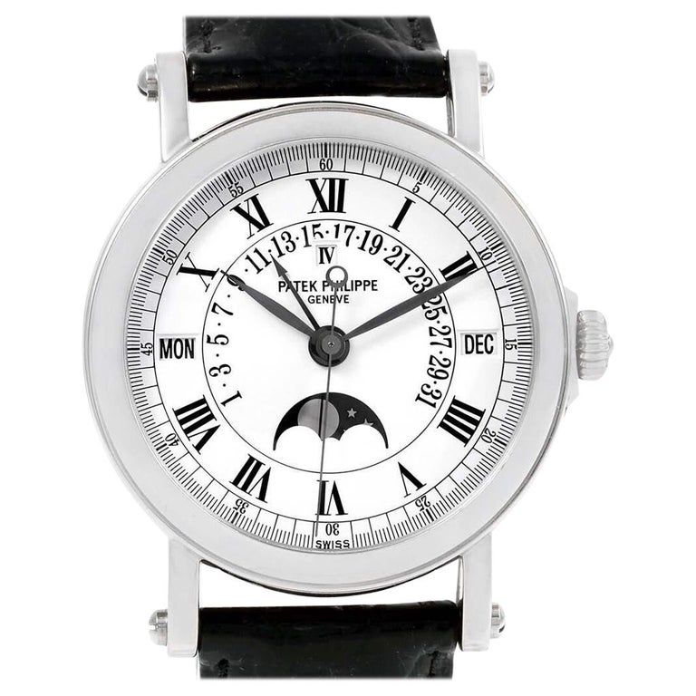 2006 Patek Philippe, Platinum, Reference 5059, Automatic Perpetual Calendar For Sale