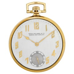 Patek Philippe Pocket Watch No-Ref#, Silver Dial, Certified and Warranty