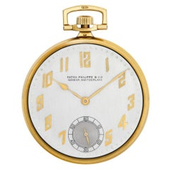 Patek Philippe Pocket Watch No-Ref#, Silver Dial, Certified