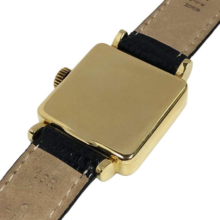 Women's or Men's Patek Philippe Ref 2444 Vintage Yellow Gold Mechanical Wristwatch For Sale