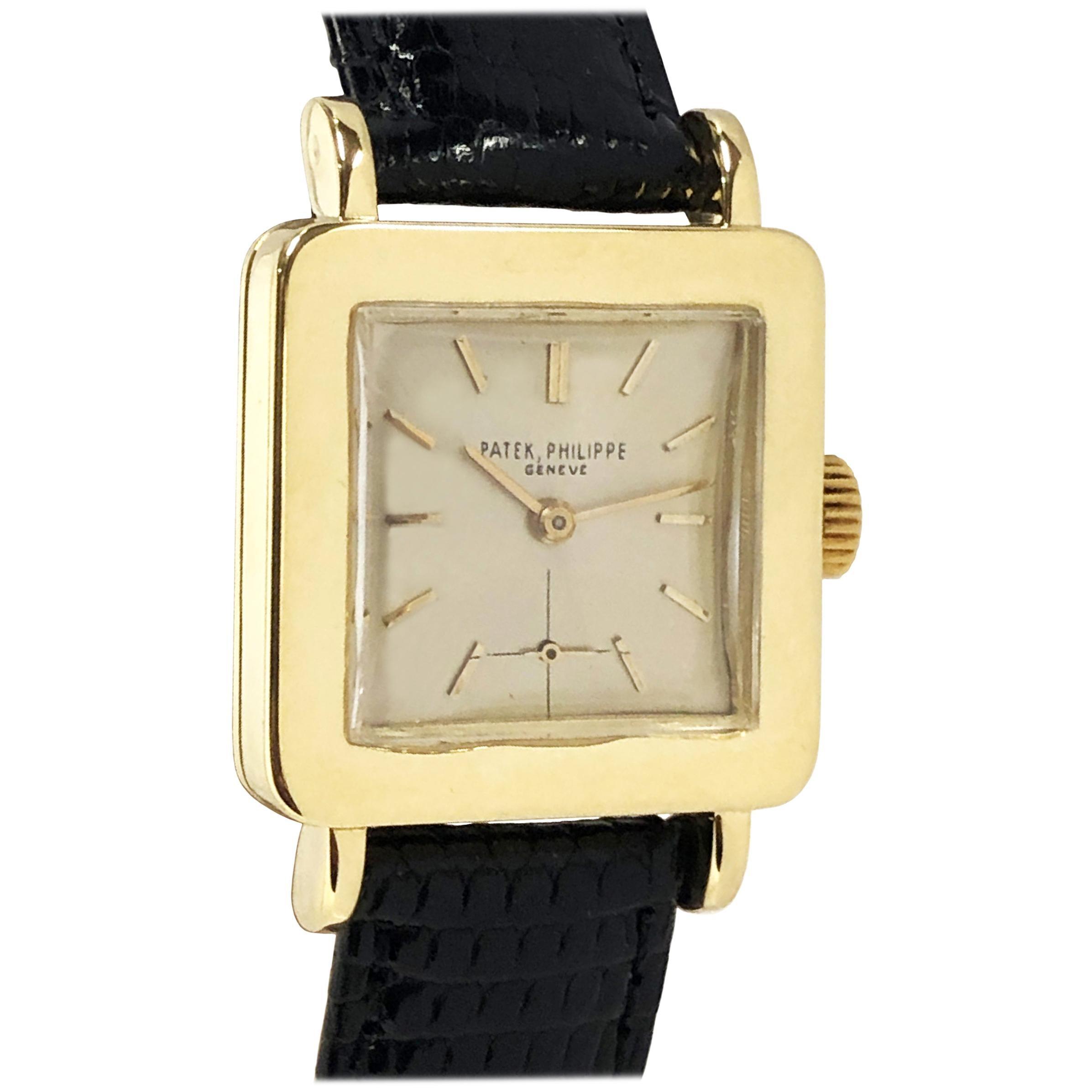 Patek Philippe Ref 2444 Vintage Yellow Gold Mechanical Wristwatch