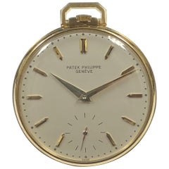 Patek Philippe Ref 600 Yellow Gold Mechanical Pocket Watch