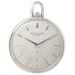 Patek Philippe White Gold Manual wind Pocket Watch Ref 715