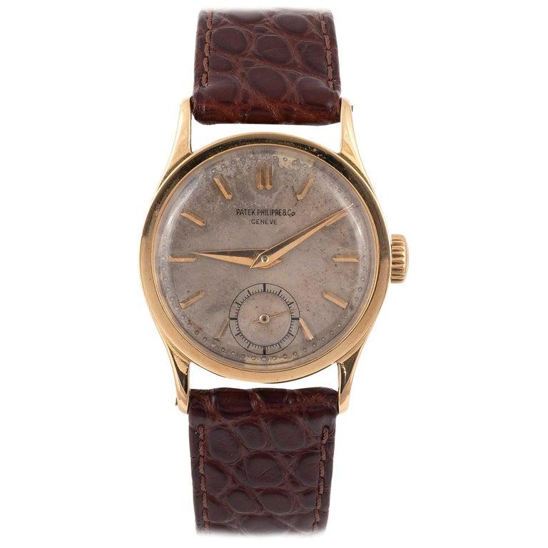 Patek Philippe Ref 96 Calatrava 18 Karat Yellow Gold Wristwatch For Sale