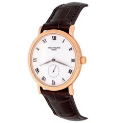 Patek Philippe Rose Gold Calatrava Manual Wind Wristwatch