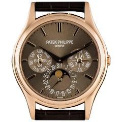 Patek Philippe Rose Gold Perpetual Calendar Ultra Thin Automatic Wristwatch