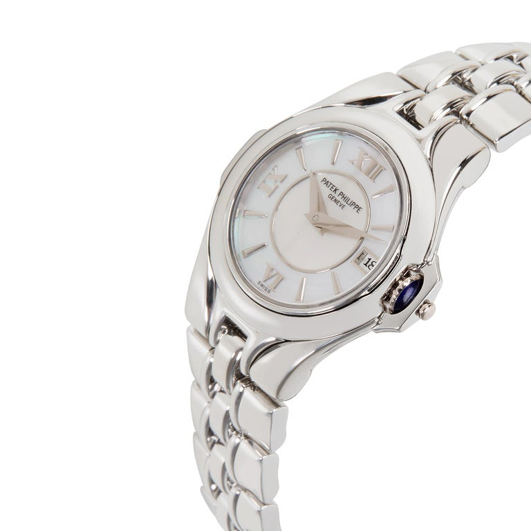 107a2aa1b Patek Philippe Sculpture 4891/1A-001 Women's Watch in Stainless Steel For  Sale 1