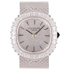 Patek Philippe Silver Dial Diamond Set 3395/1 White Gold Cocktail Wristwatch