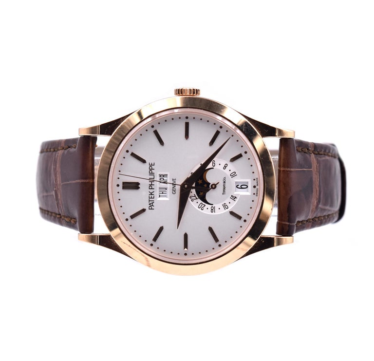 Patek Philippe Tiffany & Co. 18 Karat Rose Gold Complications In Excellent Condition For Sale In Scottsdale, AZ