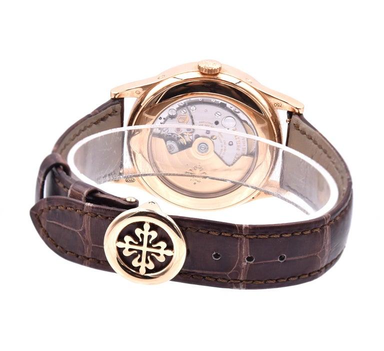 Men's Patek Philippe Tiffany & Co. 18 Karat Rose Gold Complications For Sale