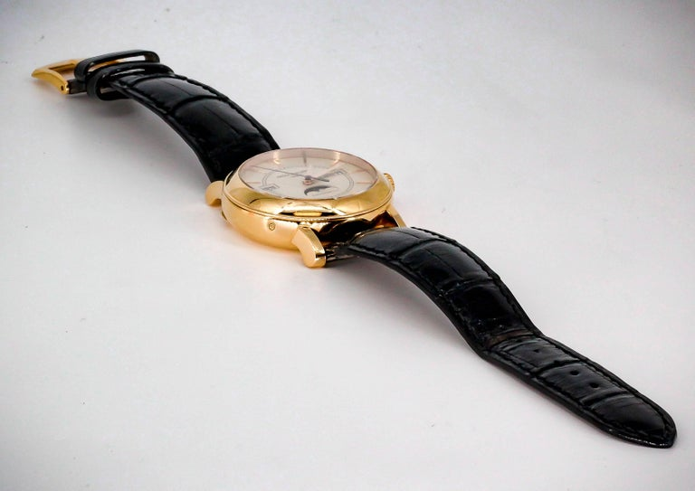 Patek Philippe Tiffany & Co. Rose Gold T150 Moonphase Automatic Wristwatch In Excellent Condition For Sale In New York, NY