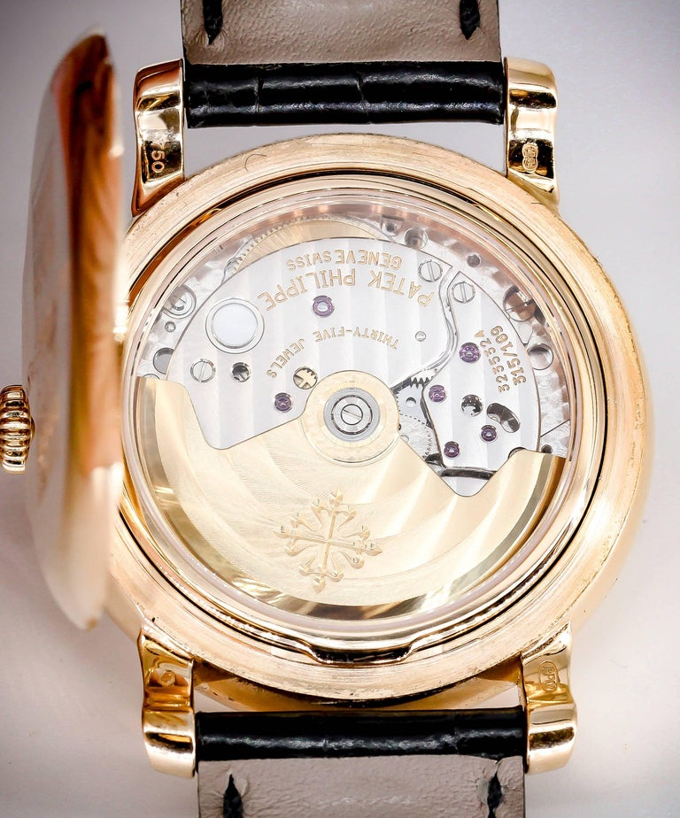 Patek Philippe Tiffany & Co. Rose Gold T150 Moonphase Automatic Wristwatch For Sale 3