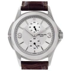 Patek Philippe Travel Time 5134 18 Karat White Gold Silver Dial Manual Watch