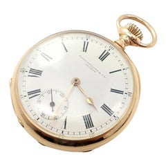 Patek Philippe Triple Signed Yellow Gold Pocket Watch, 1890