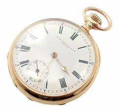 Patek Philippe Triple Signed Yellow Gold Pocket Watch, 1890