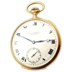 Patek Philippe Triple Signed Yellow Gold Pocket Watch 1915
