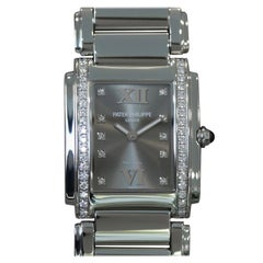"Patek Philippe Twenty-4 ""24"" Grey ""Tiffany Dial"" with Diamonds"