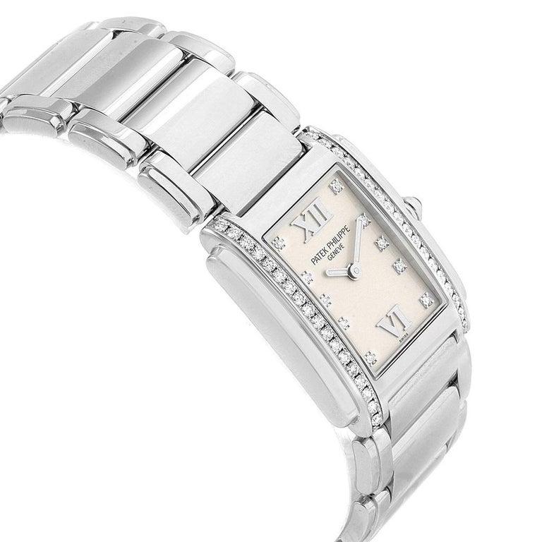 Women's Patek Philippe Twenty-4 Diamond Ladies Quartz Watch 4910/10A-010 For Sale