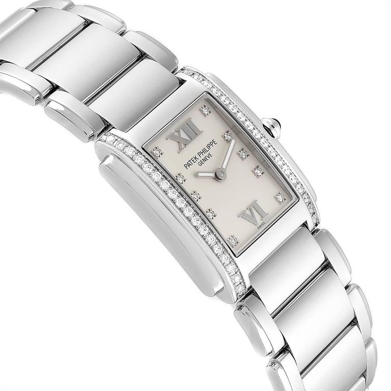 Women's Patek Philippe Twenty-4 Diamond Ladies Quartz Watch 4910/10A-010 For Sale