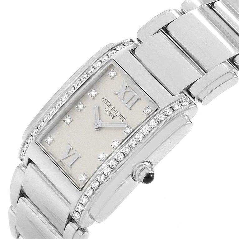 Patek Philippe Twenty-4 Diamond Ladies Quartz Watch 4910/10A-010 For Sale 1