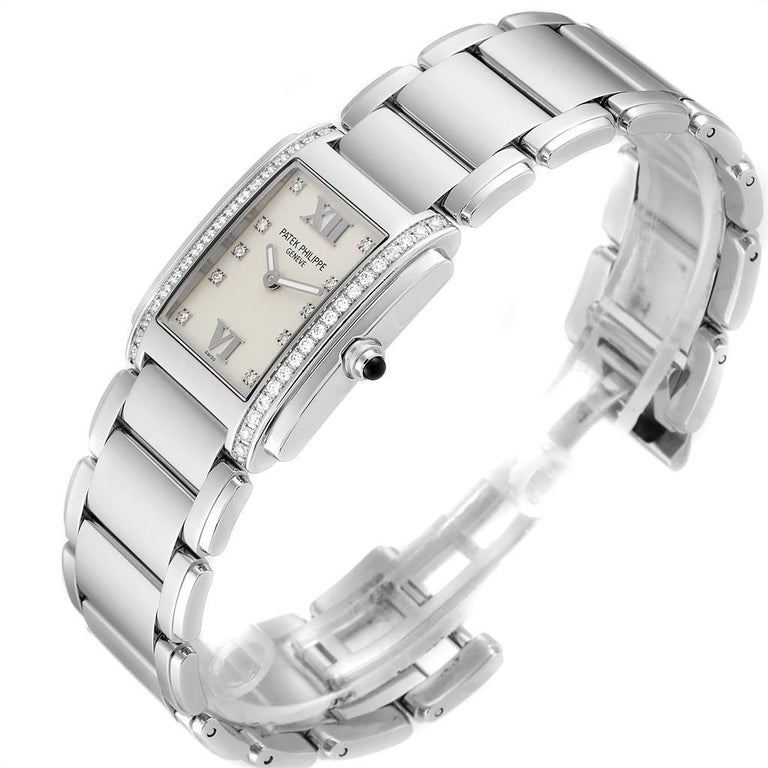 Patek Philippe Twenty-4 Diamond Ladies Quartz Watch 4910/10A-010 For Sale 1