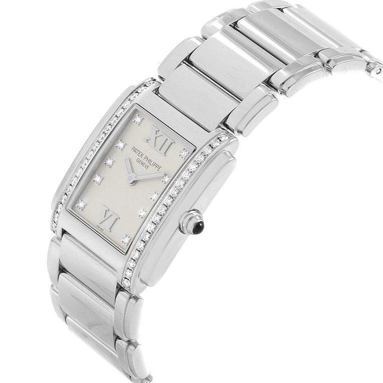 Patek Philippe Twenty-4 Diamond Ladies Quartz Watch 4910/10A-010 For Sale 2