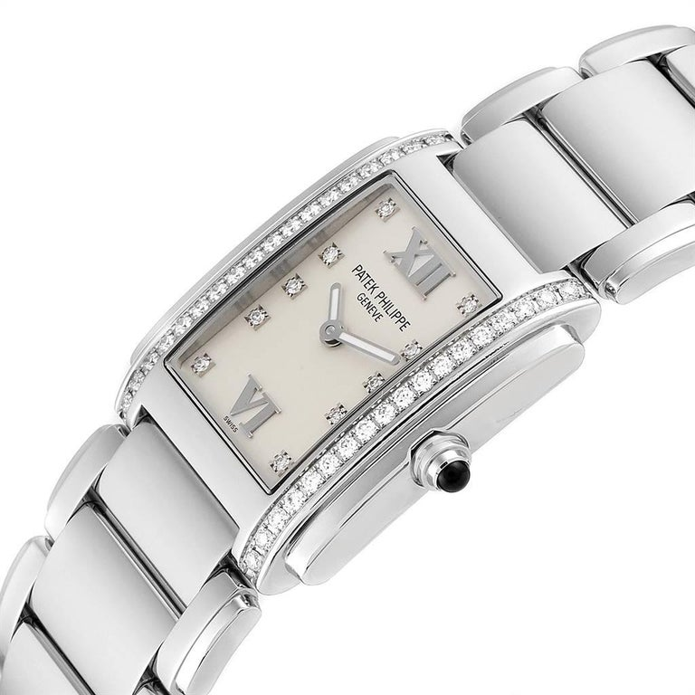 Patek Philippe Twenty-4 Diamond Ladies Quartz Watch 4910/10A-010 For Sale 2