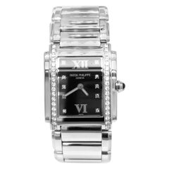 Patek Philippe Twenty-4 Diamond Stainless Steel Women Watch 4910/10A-001