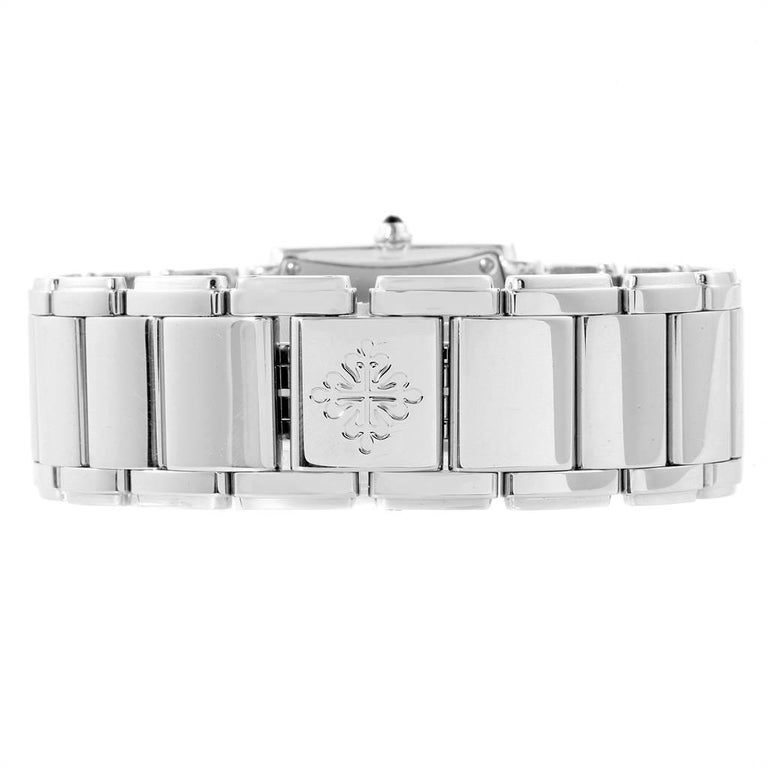 Patek Philippe Twenty-4 Grey Diamond Dial Steel Ladies Watch 4910 For Sale 3