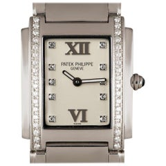 Patek Philippe Twenty-4 Ladies Stainless Steel Silver Diamond Dial 4910/10A-011