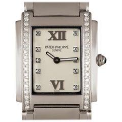 Patek Philippe Twenty-4 Ladies Stainless Steel Silver Diamond Dial 4910/10A-011