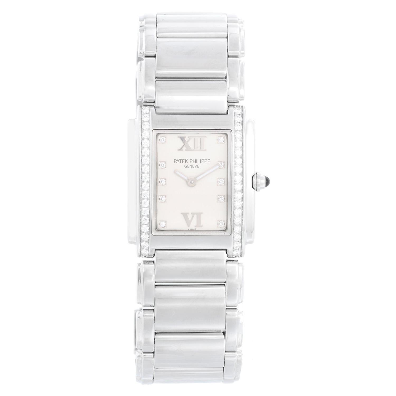 Patek Philippe Twenty-4 Ladies Steel & Diamond Watch 4910/10